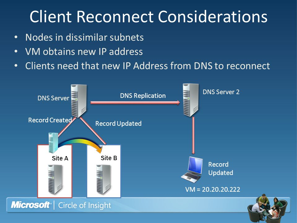 Client Reconnect Considerations