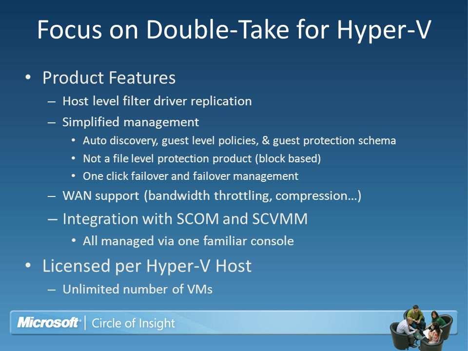 Focus on Double-Take for Hyper-V