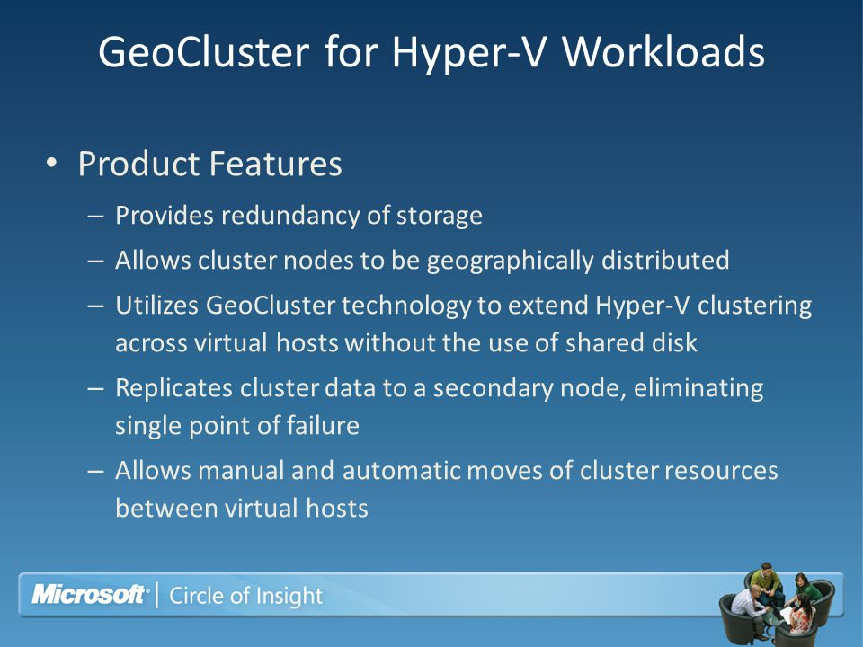 GeoCluster for Hyper-V Workloads