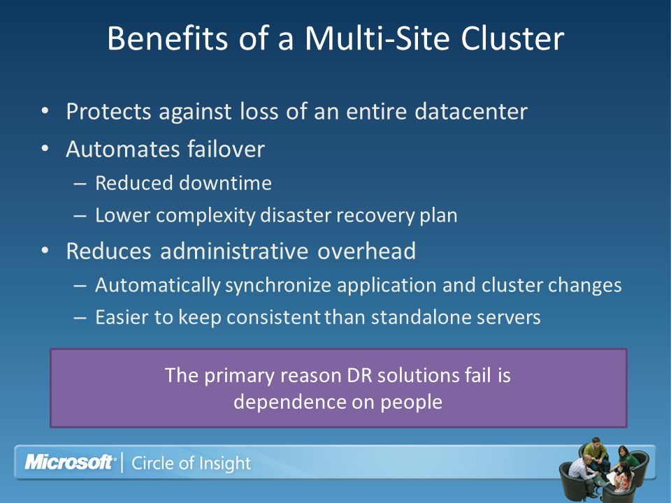 Benefits of a Multi-Site Cluster