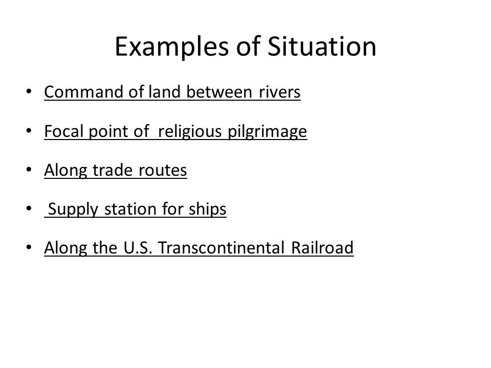 Examples of Situation Command of land between rivers