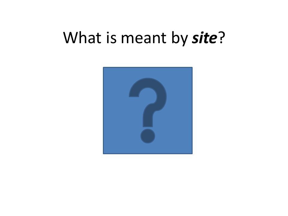 What is meant by site