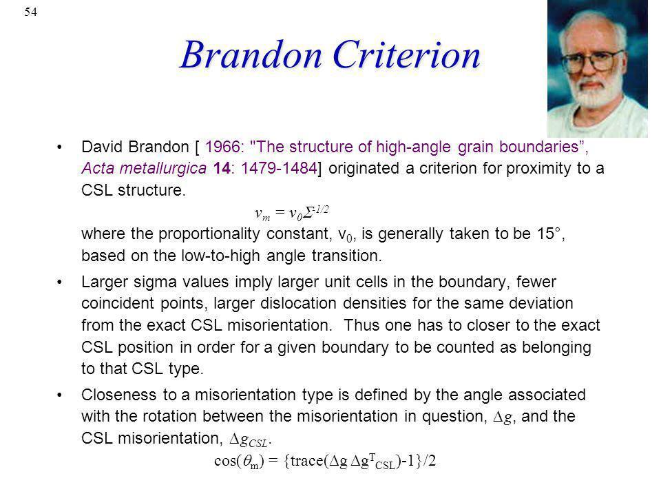 Brandon Criterion