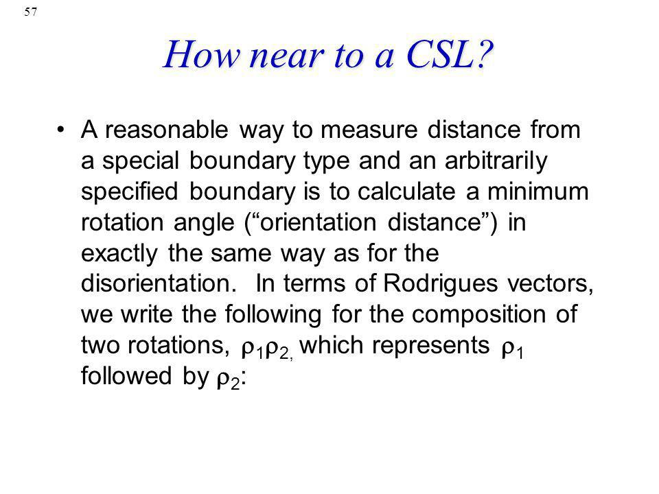 How near to a CSL