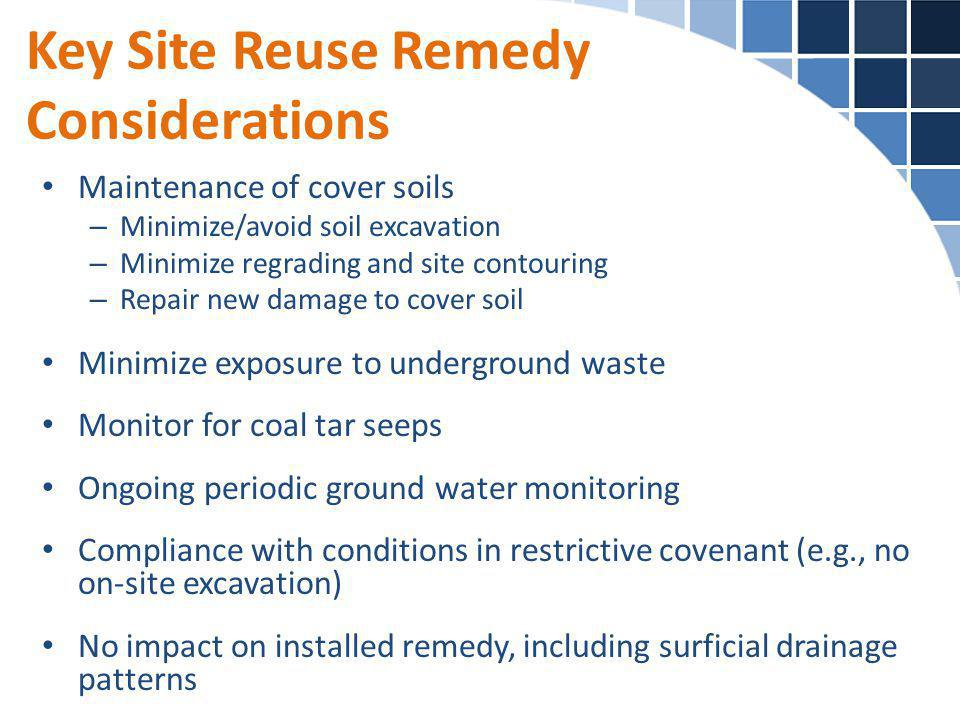 Key Site Reuse Remedy Considerations