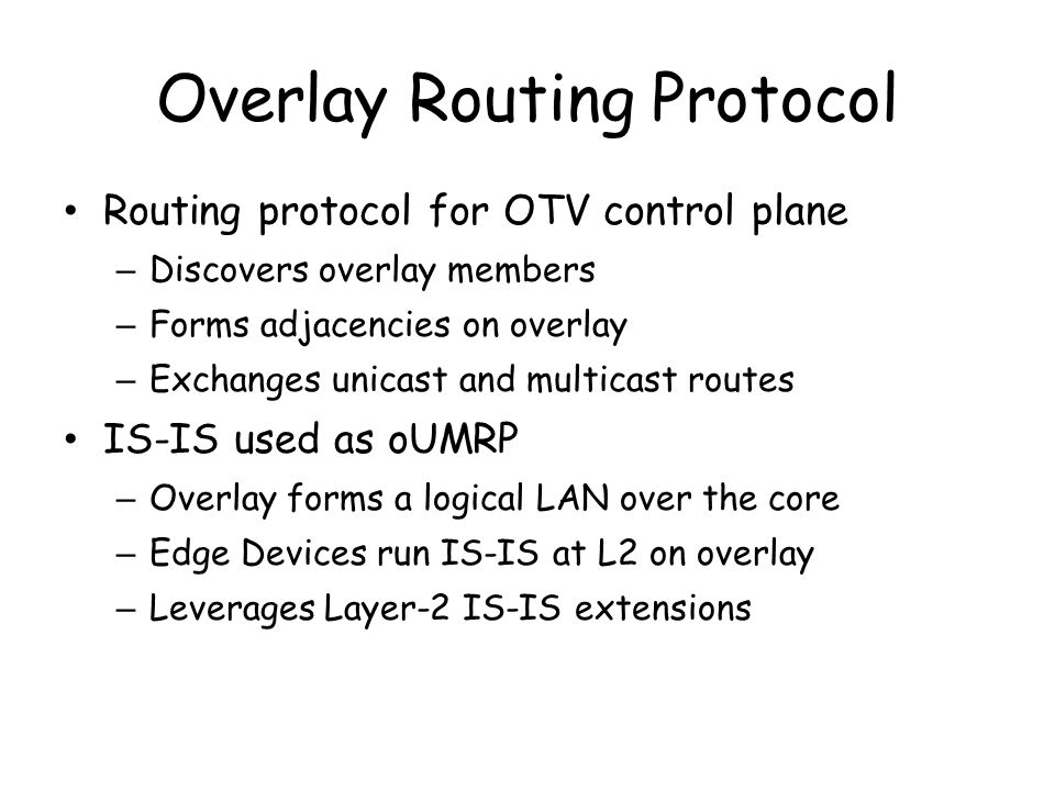 Overlay Routing Protocol