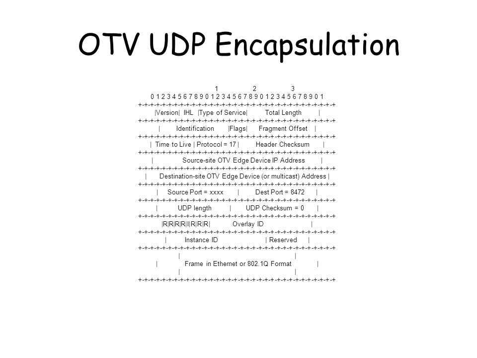 OTV UDP Encapsulation
