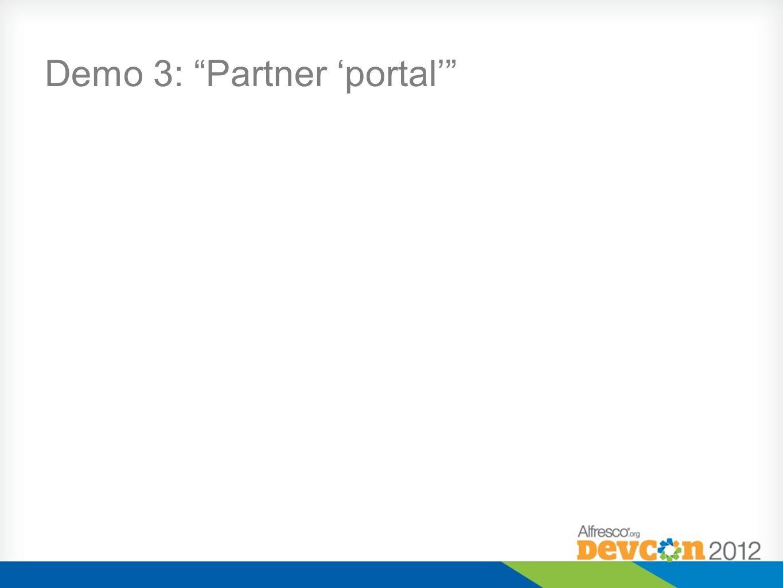 Demo 3: Partner 'portal'
