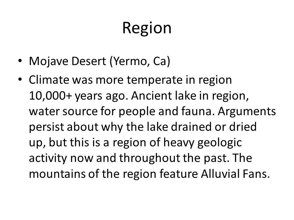 Region Mojave Desert (Yermo, Ca)