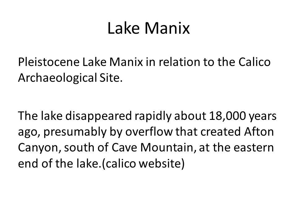 Lake Manix