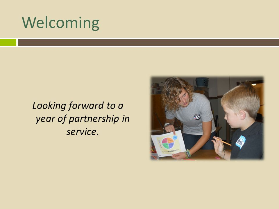 Looking forward to a year of partnership in service.