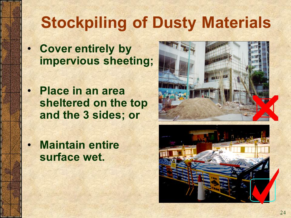 Stockpiling of Dusty Materials