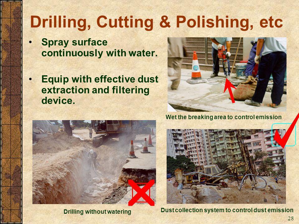 Drilling, Cutting & Polishing, etc
