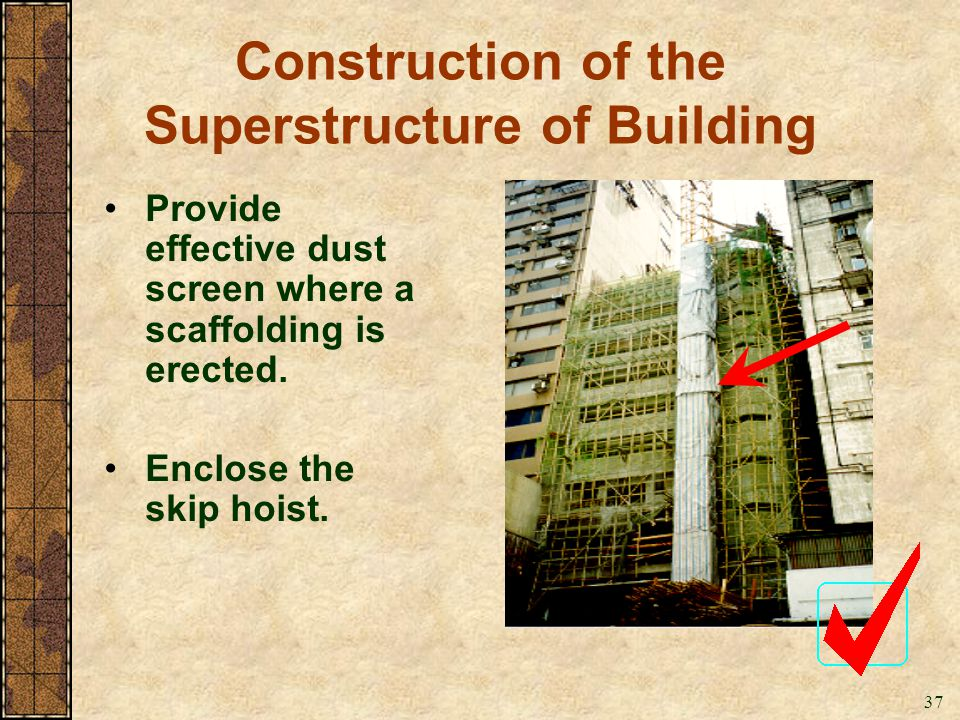 Construction of the Superstructure of Building