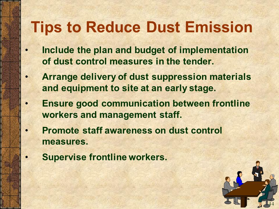 Tips to Reduce Dust Emission