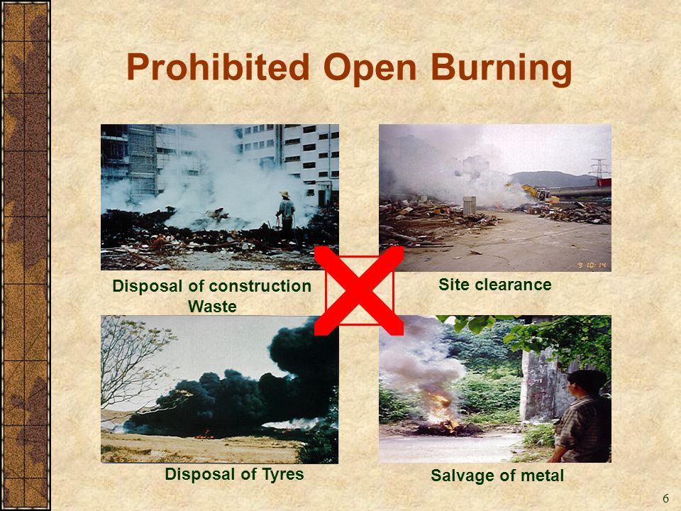 Prohibited Open Burning