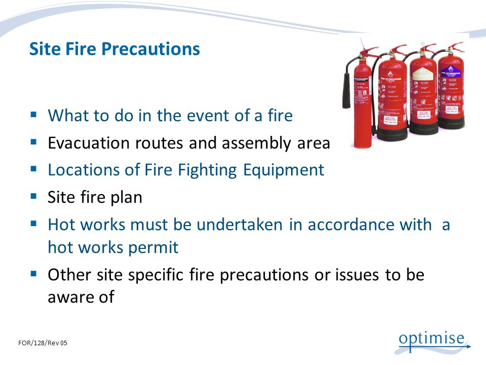 Site Fire Precautions What to do in the event of a fire