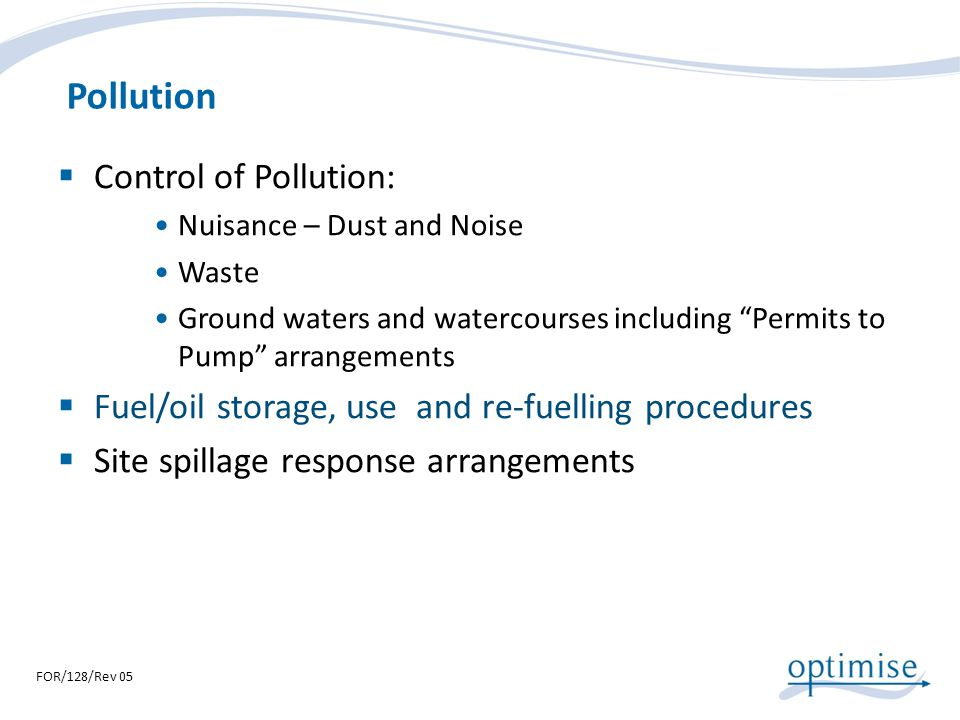 Pollution Control of Pollution: