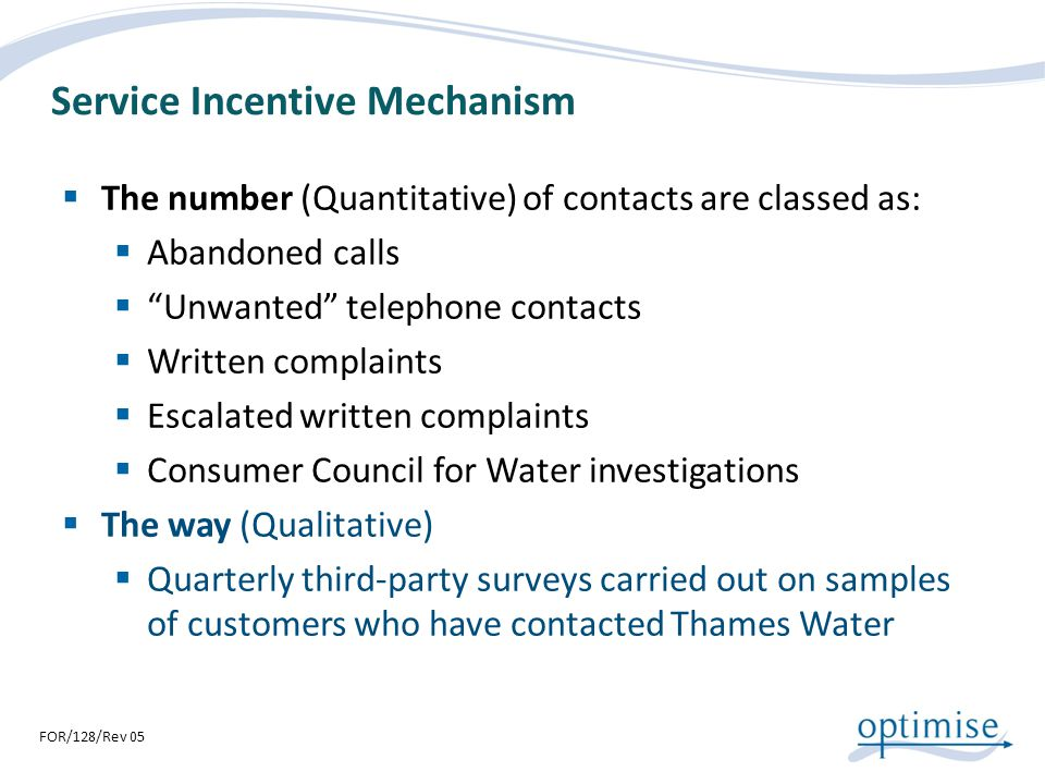 Service Incentive Mechanism