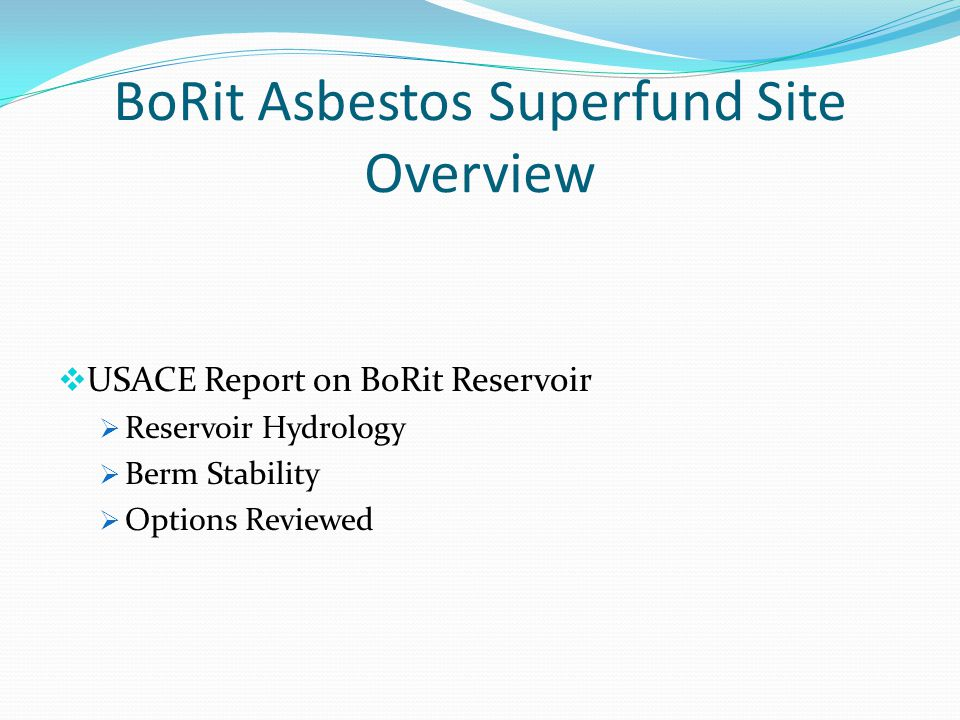 BoRit Asbestos Superfund Site Overview