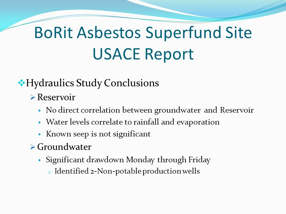 BoRit Asbestos Superfund Site USACE Report