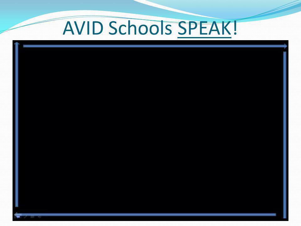 AVID Schools SPEAK!