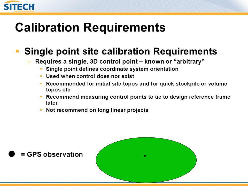 Calibration Requirements