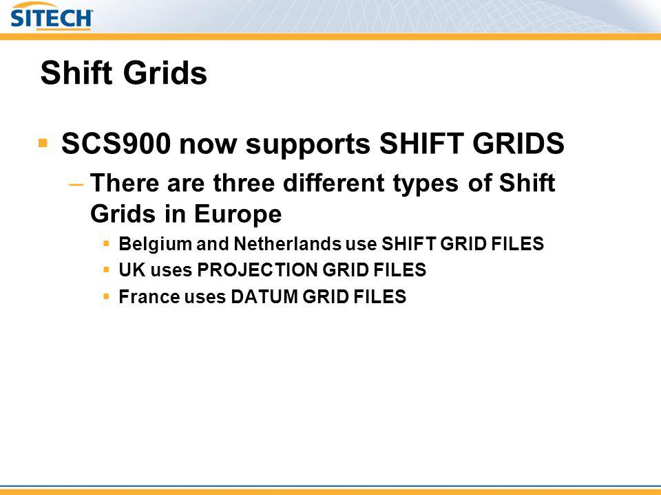 Shift Grids SCS900 now supports SHIFT GRIDS