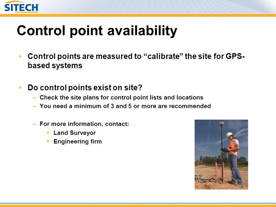 Control point availability