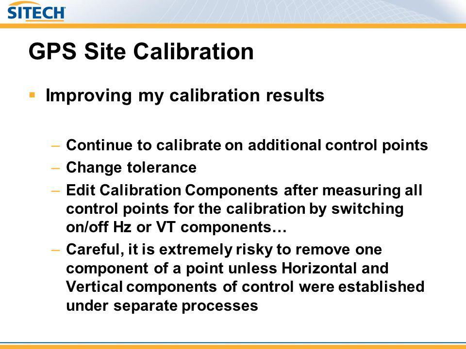 GPS Site Calibration Improving my calibration results