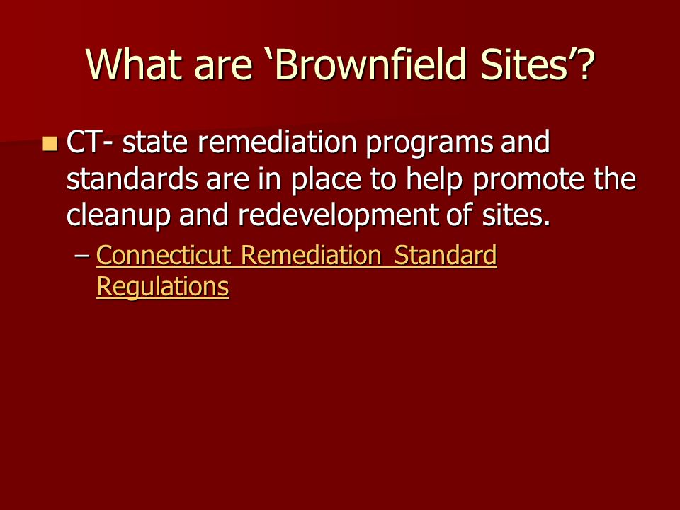 What are 'Brownfield Sites'