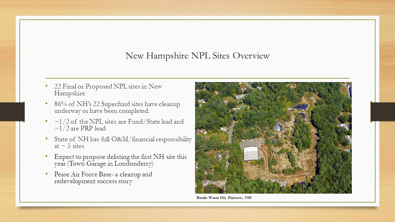 New Hampshire NPL Sites Overview