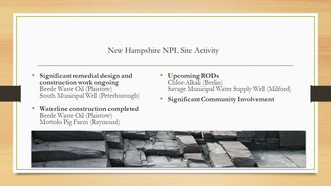 New Hampshire NPL Site Activity