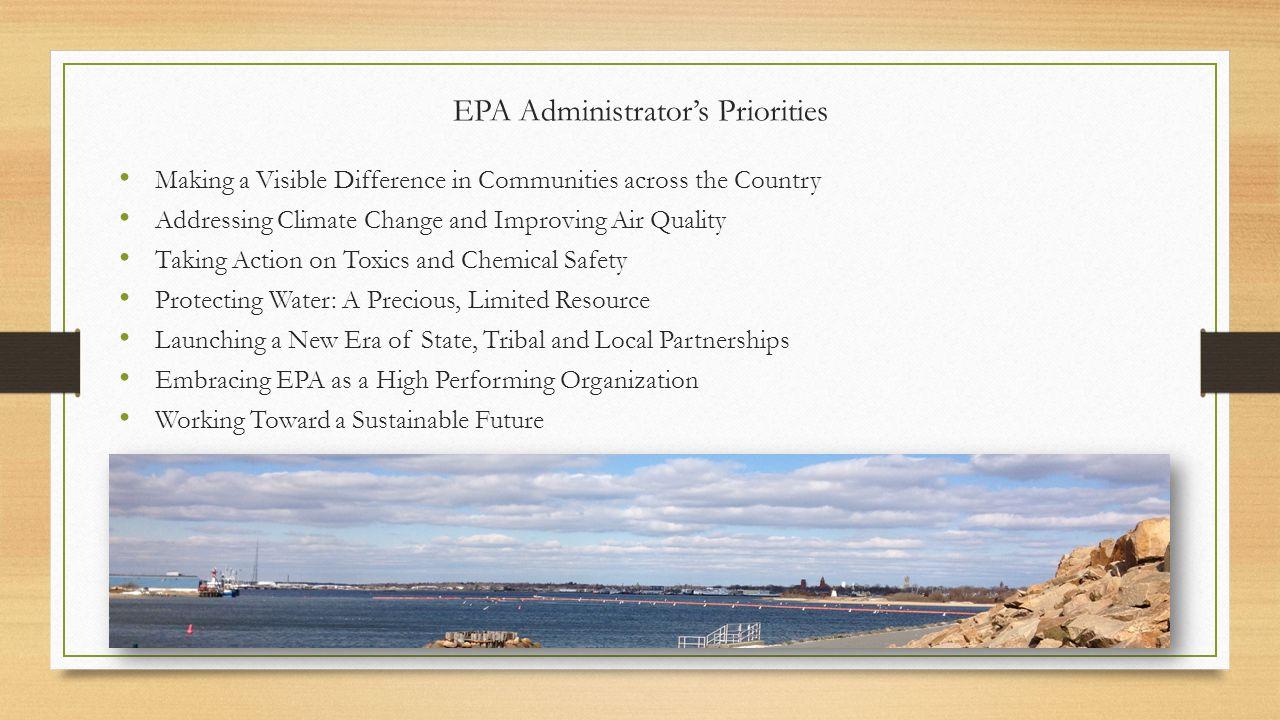 EPA Administrator's Priorities