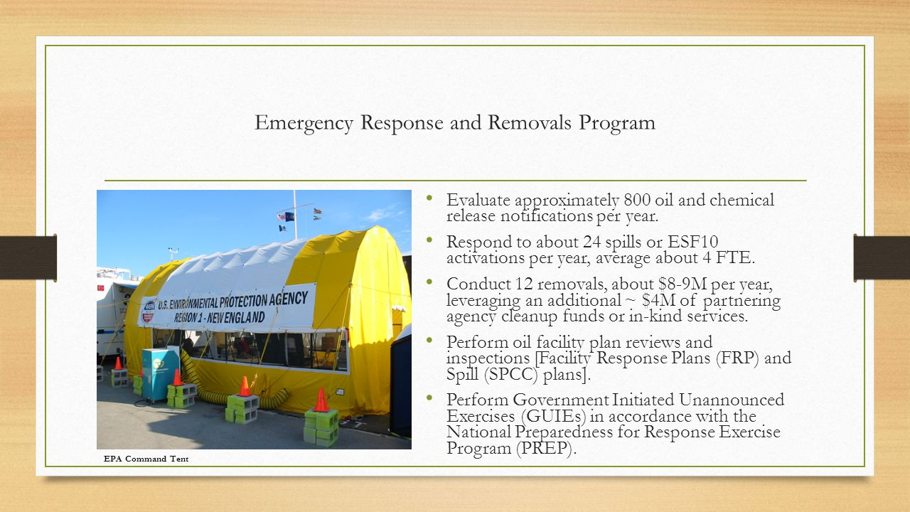 Emergency Response and Removals Program