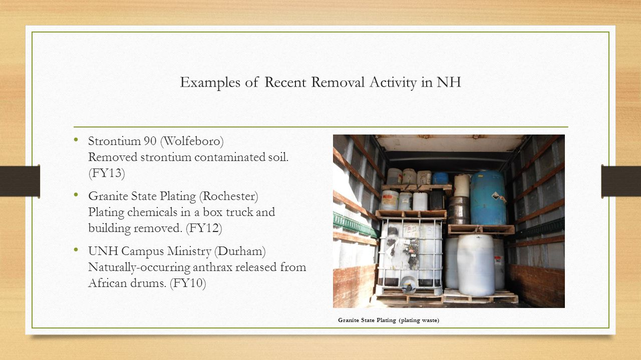 Examples of Recent Removal Activity in NH
