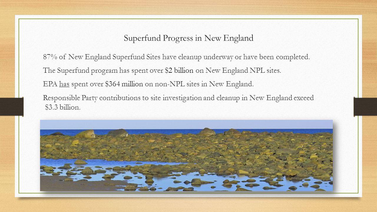 Superfund Progress in New England