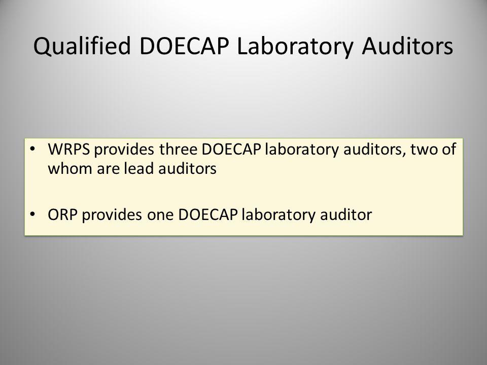 Qualified DOECAP Laboratory Auditors