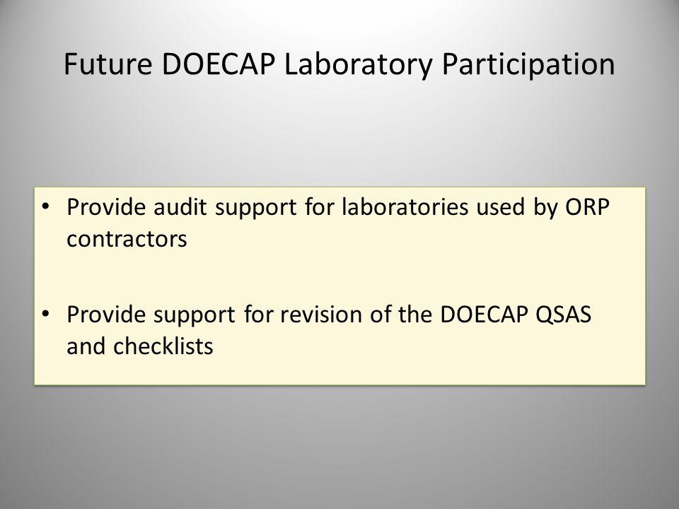 Future DOECAP Laboratory Participation