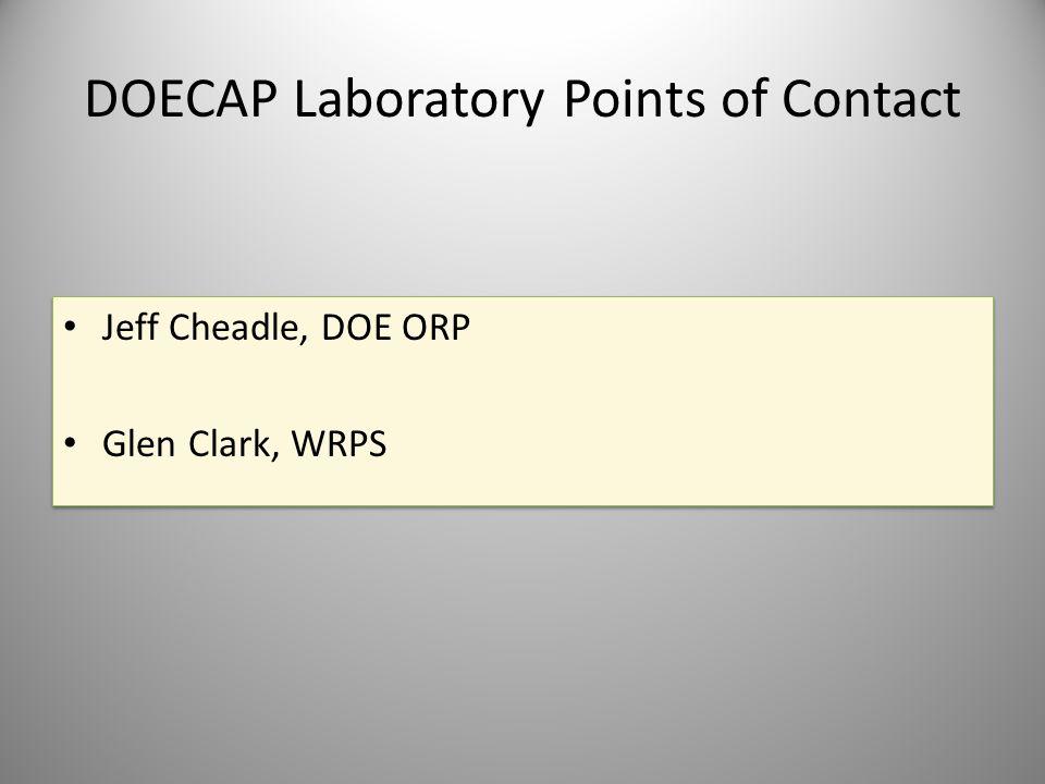 DOECAP Laboratory Points of Contact