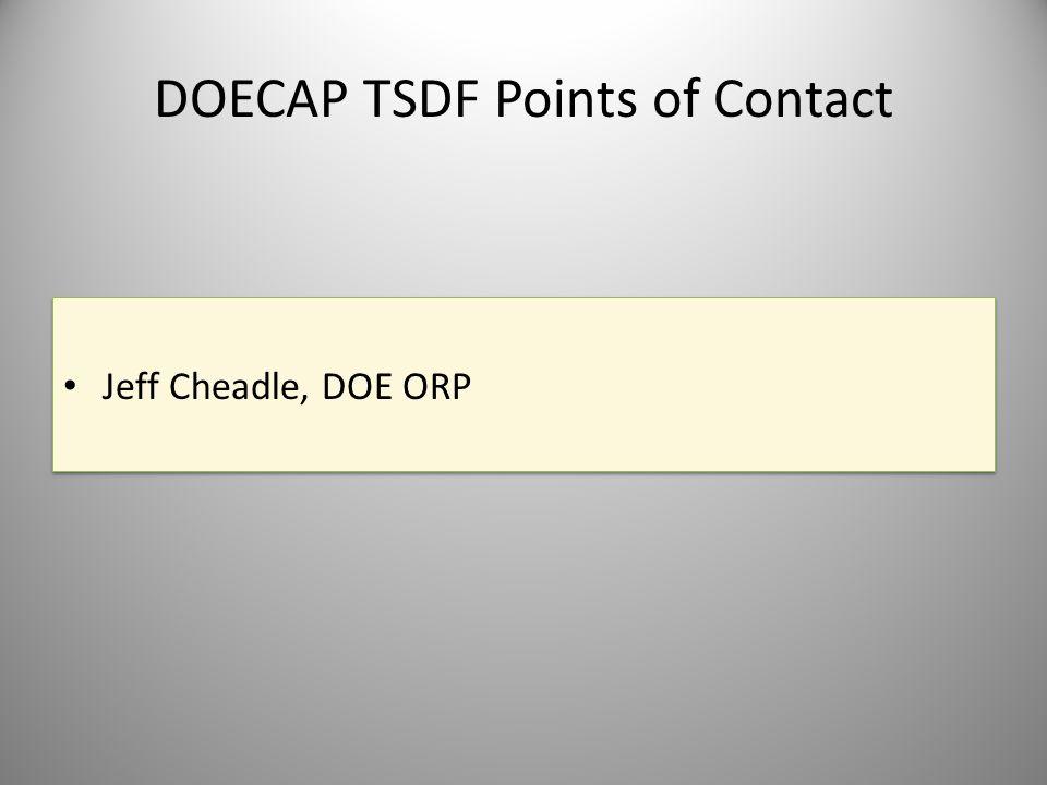 DOECAP TSDF Points of Contact