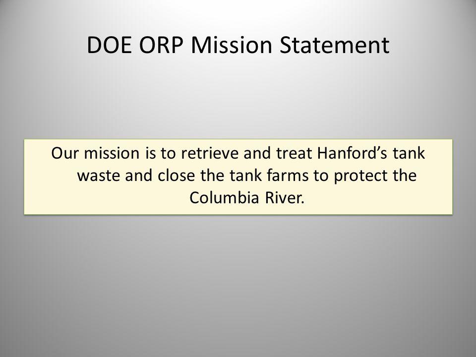 DOE ORP Mission Statement