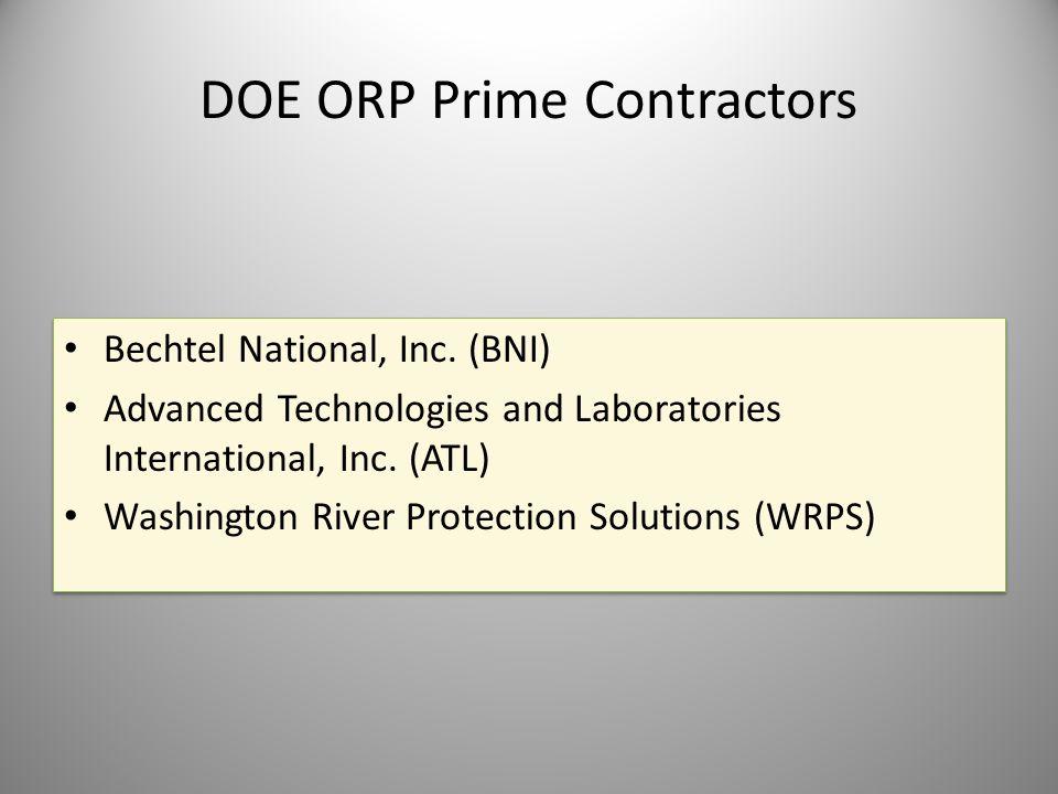 DOE ORP Prime Contractors