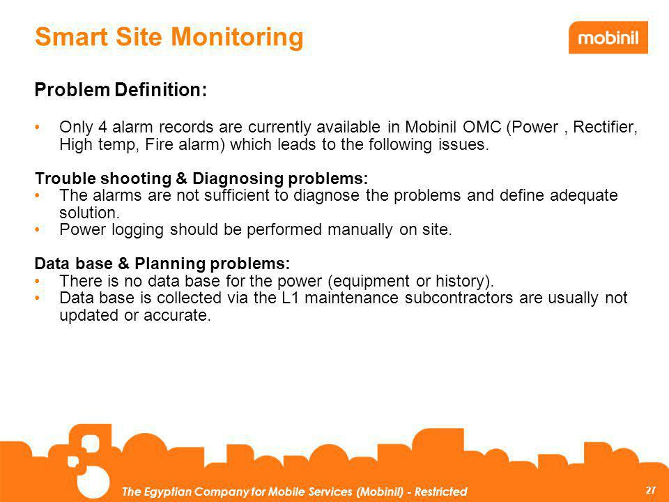 Smart Site Monitoring Problem Definition: