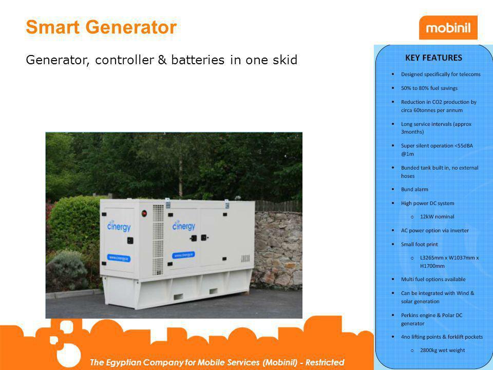 Smart Generator Generator, controller & batteries in one skid