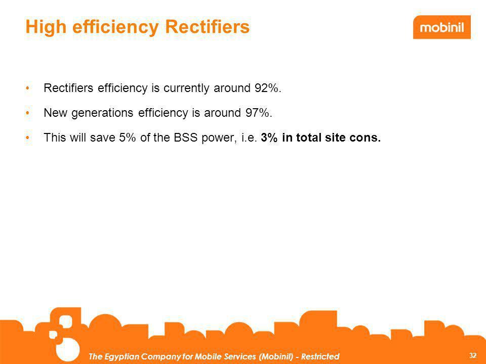 High efficiency Rectifiers
