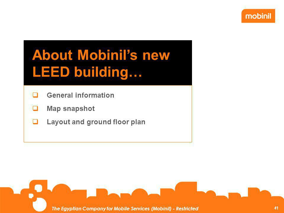 About Mobinil's new LEED building…