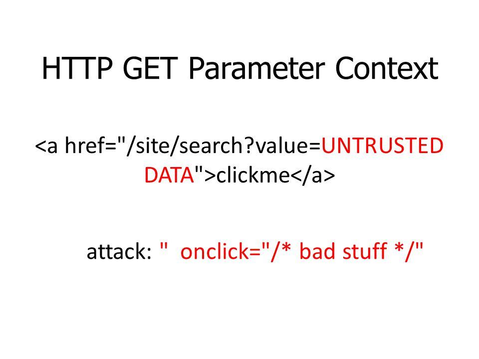 HTTP GET Parameter Context