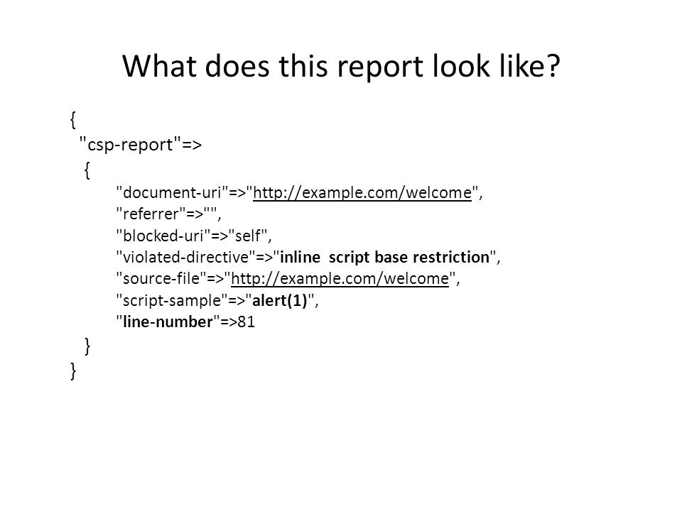 What does this report look like