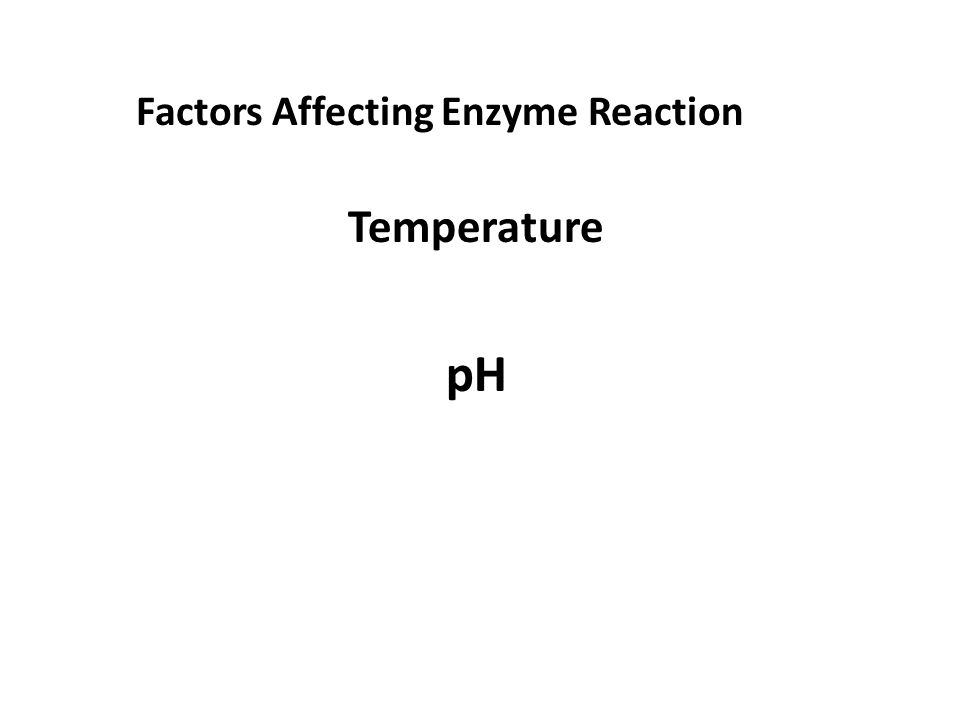 Factors Affecting Enzyme Reaction